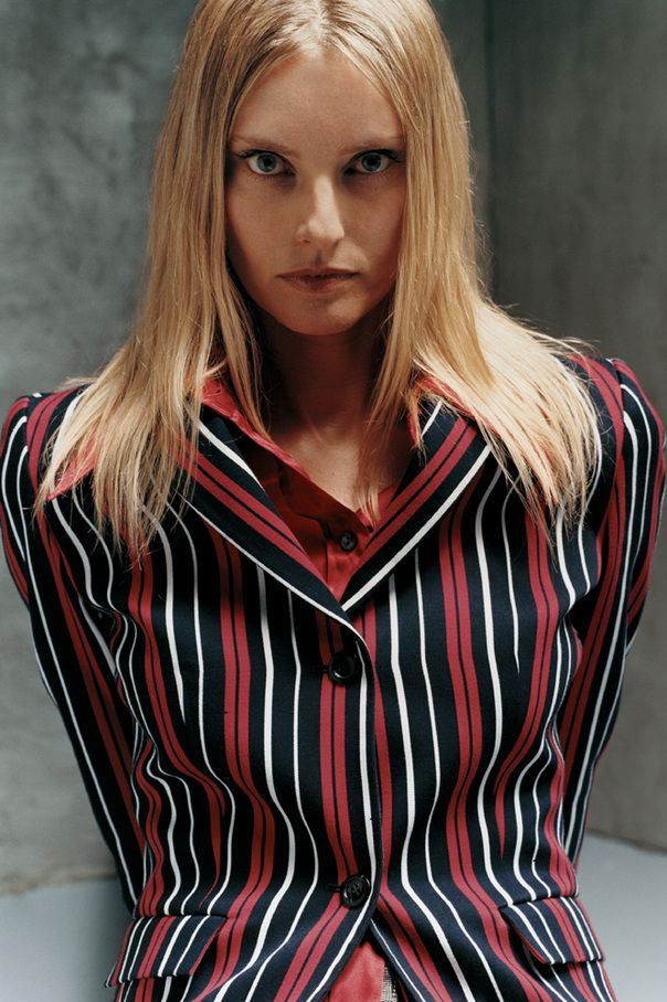 stripped suit on Aimee Mann. You could make a killing.