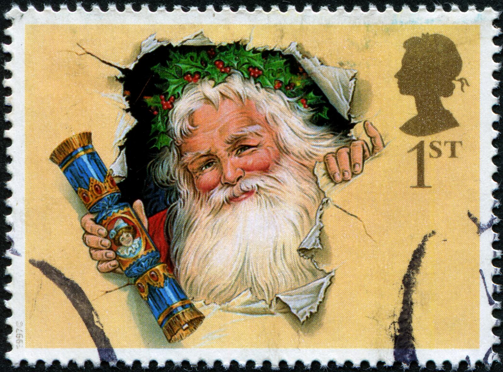 Почтовые марки картинки новогодние