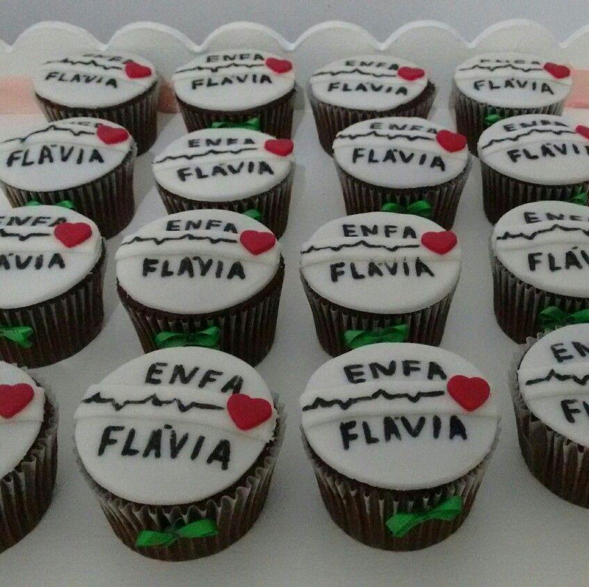 Cupcakes para Formatura Enfermagem Nursing congrats Nurses week, Cupcakes e Desserts -> Decoração Festa Enfermeiro