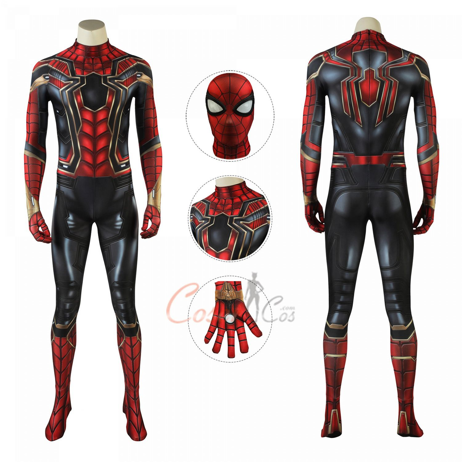 Iron Spider Man Costume Avengers Infinity War Cosplay Peter