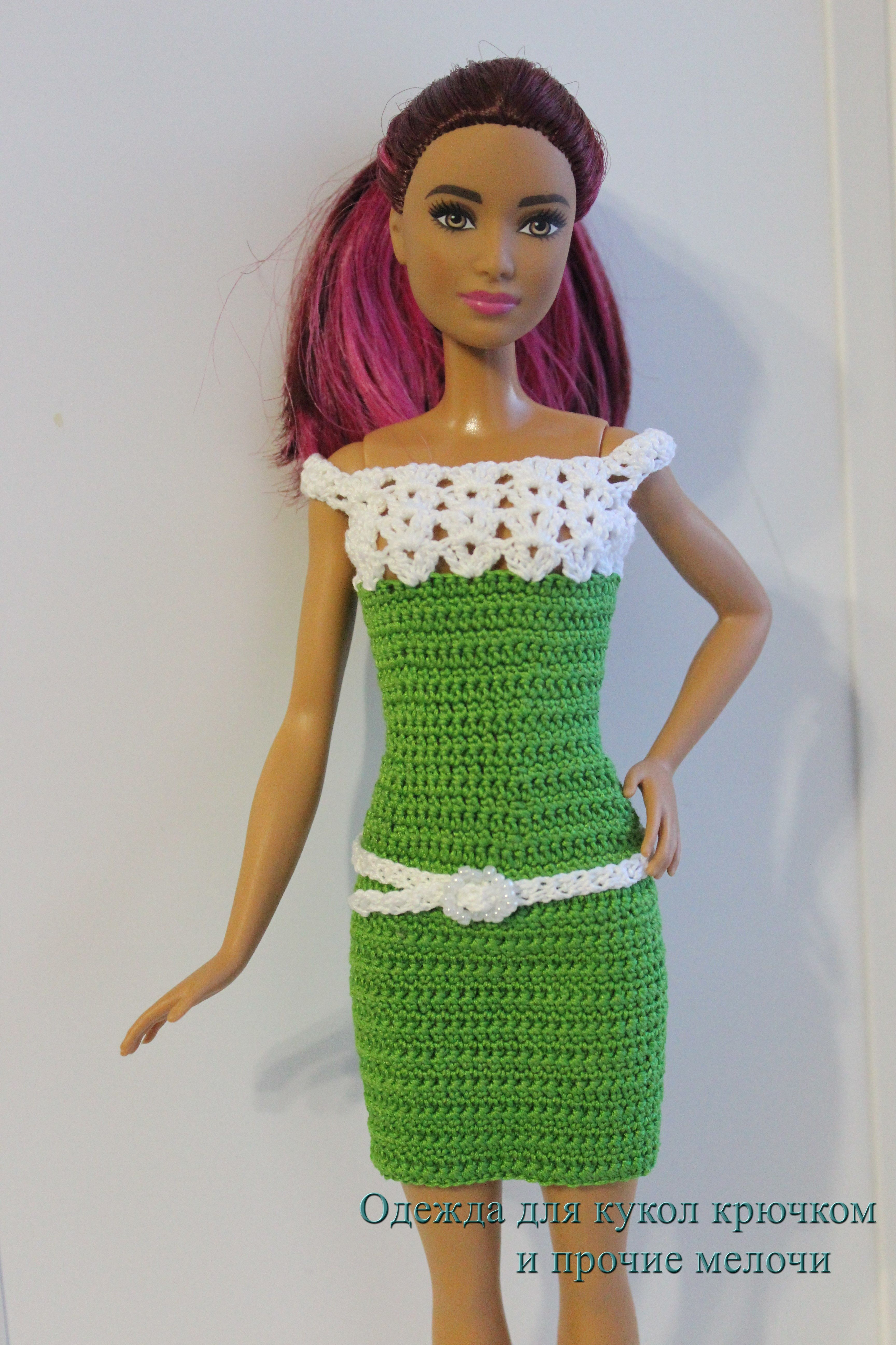 Crotchet dress for Barbie | Barbie | Pinterest | Crotchet, Dolls and ...