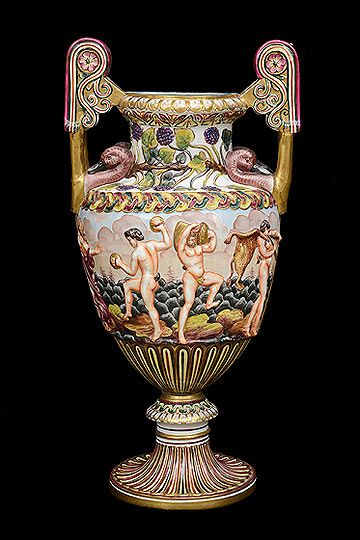 Antique Italian Capodimonte Porcelain Vase Vases Jars Ewers And