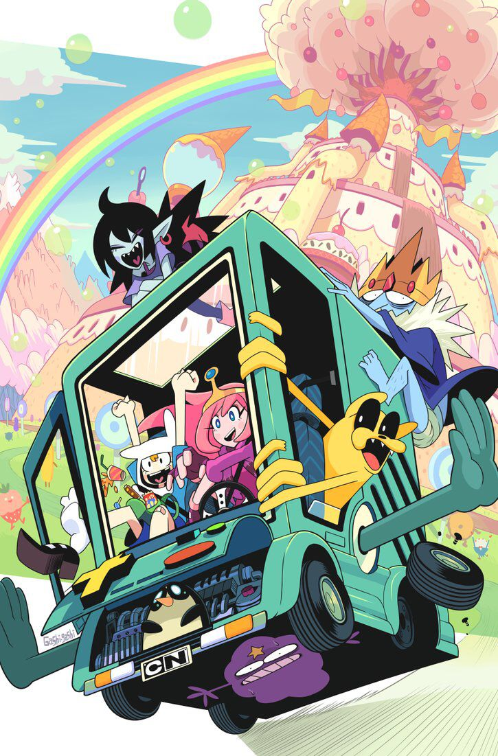 Adventure time. I love this deviant artist's style. His