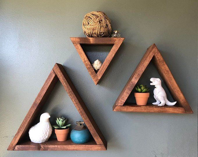 Honeycomb Shelves Set Of 3 Honeycomb Wood Shelves