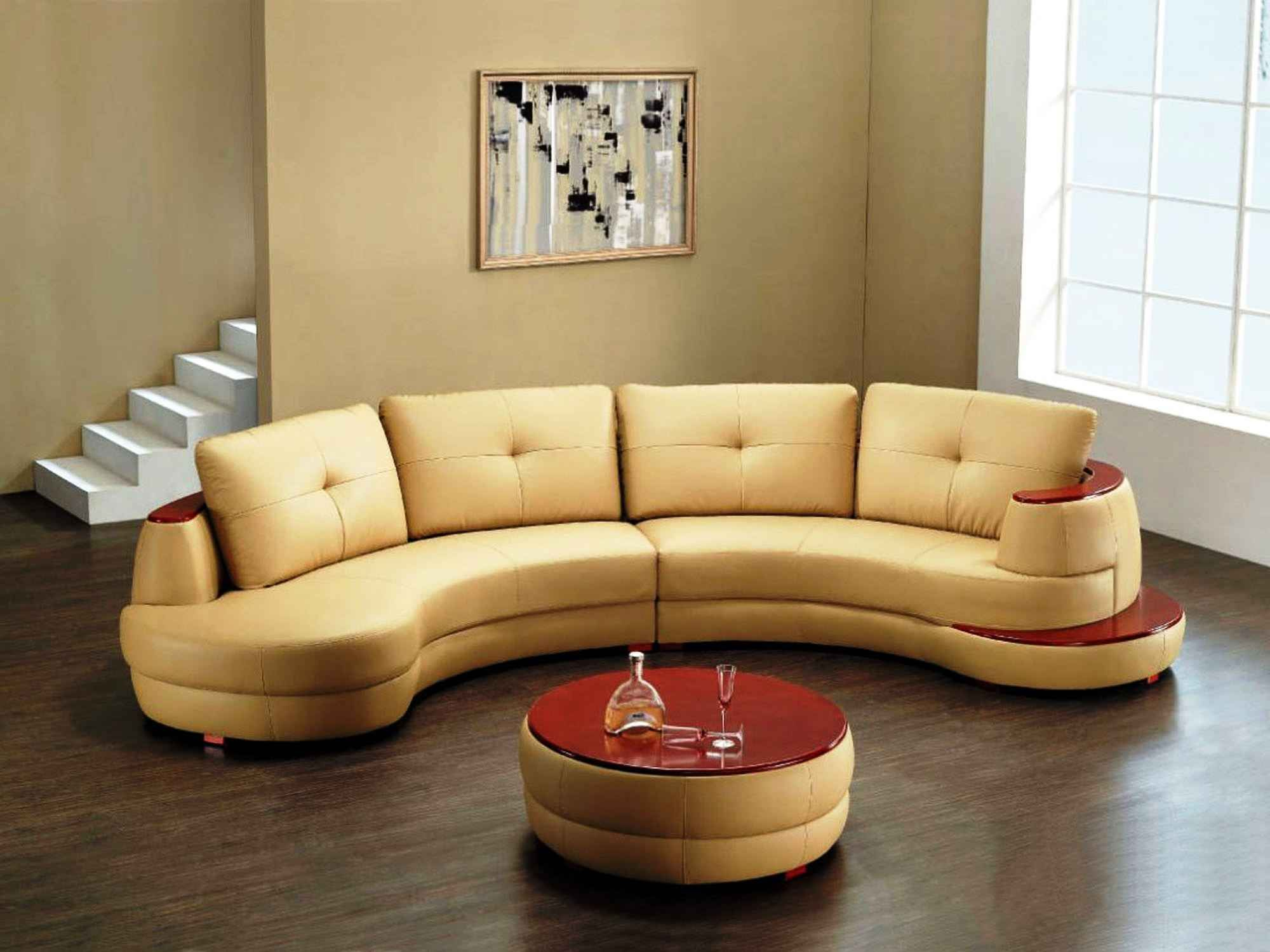 Round Sofa Chair With Cup Holder Furniture Pinterest Round