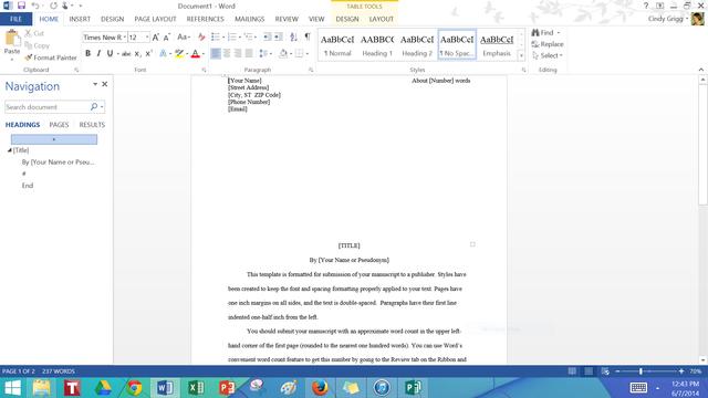 manuscript templates