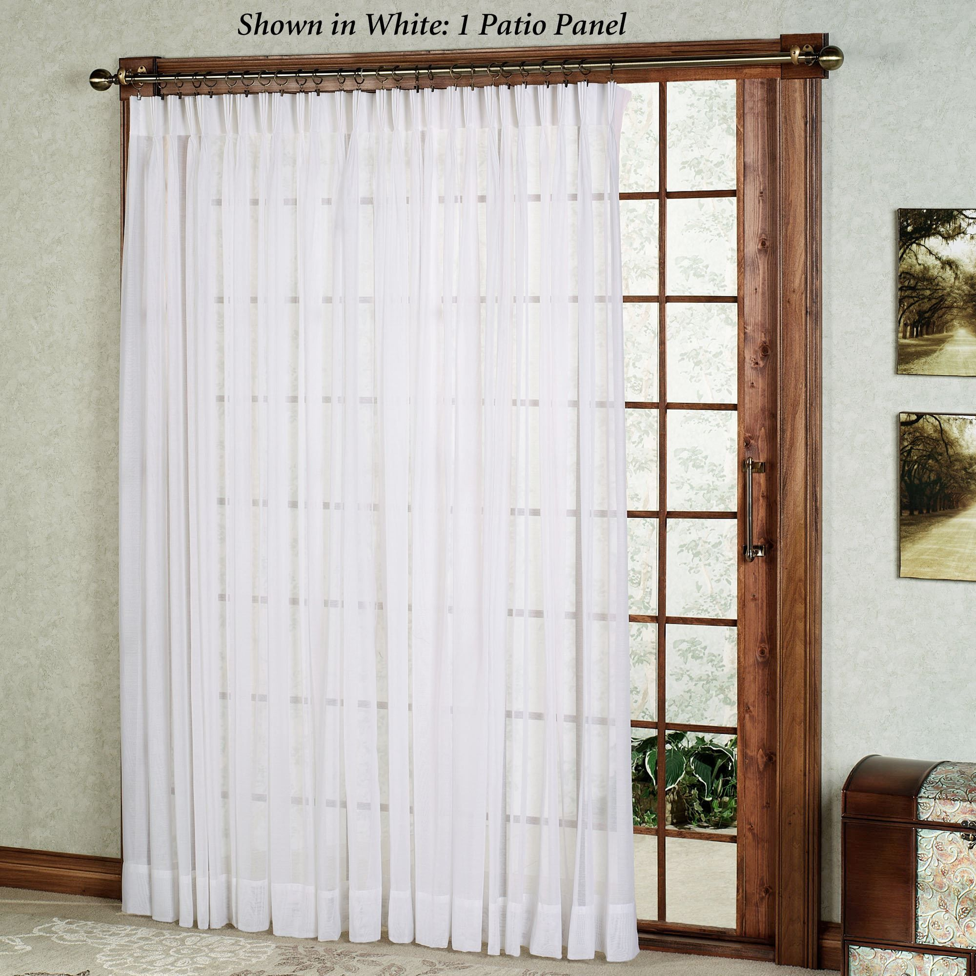Check Out The Deal On Splendor Semi Sheer Batiste Pinch Pleat Patio Panel At Bedbathhome