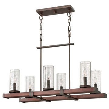 Features:  -Chandelier.  -Seedy glass shade.  -Rectangular shape.  -c-UL-us certified.  -Jasper collection.  Chandelier Type: -Candle-Style chandelier.  Finish: -Rustic iron.  Material: -Metal.  Numbe