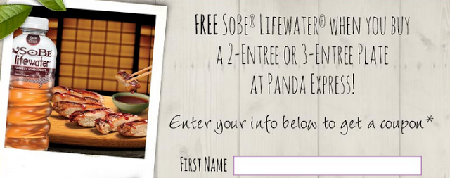 Panda Express Get A Free Sobe Lifewater W A 2 Or 3 Entree Plate Printable Coupon Panda Express Restaurant Deals Coupon Fast Food Places