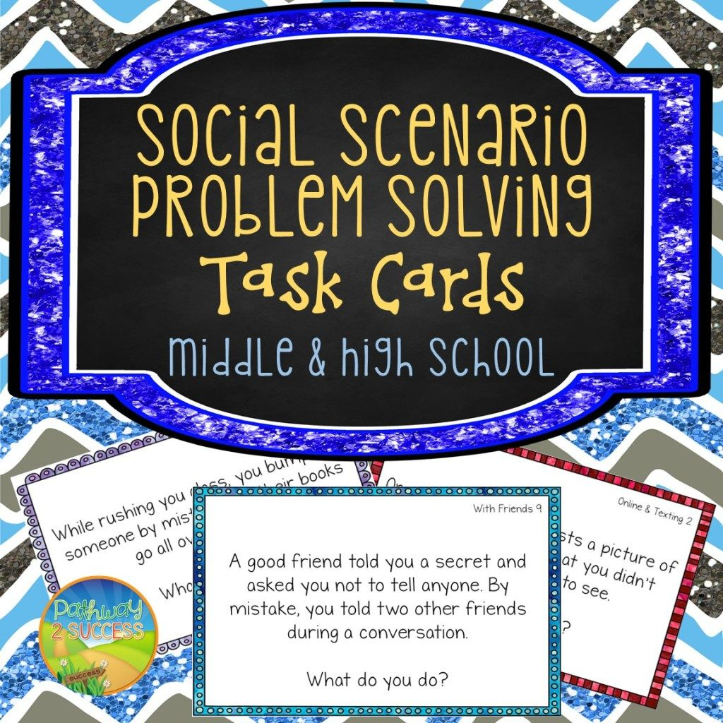 Social Problem Solving Task Cards For Middle And High