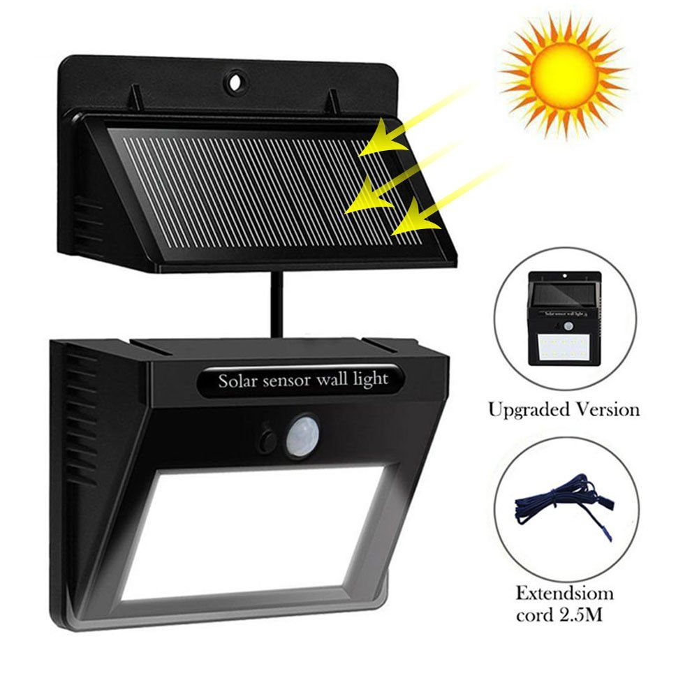 Solar powered led wall light outdoor waterproof security lights pir solar powered led wall light outdoor waterproof security lights pir motion sensor solar wall lamp with aloadofball Images