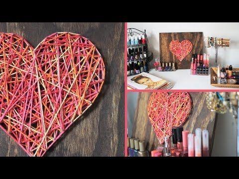 Diy Valentine S Day Room Decor Gift Idea Youtube Diy Valentines Decorations Decor Christmas Decorations Living Room