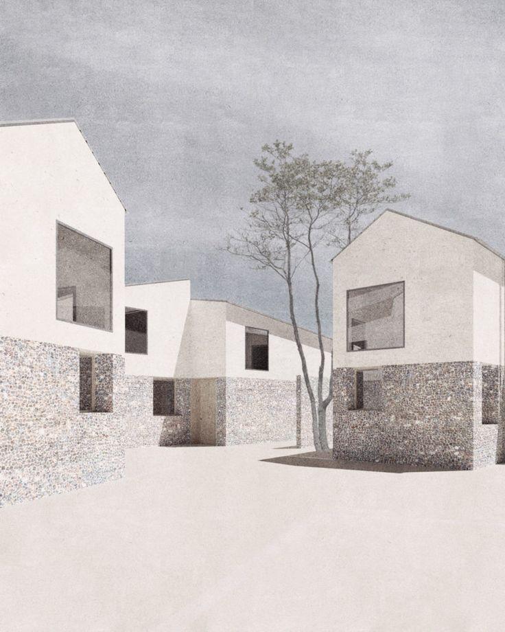 Wohnbebauung Oxford Wir wurden beauftragt einen Entwurfskonzeptvorschlag für eine neue Wohnbebauung in Bletchingdon UK zu erarbeiten  weg mit der Norm