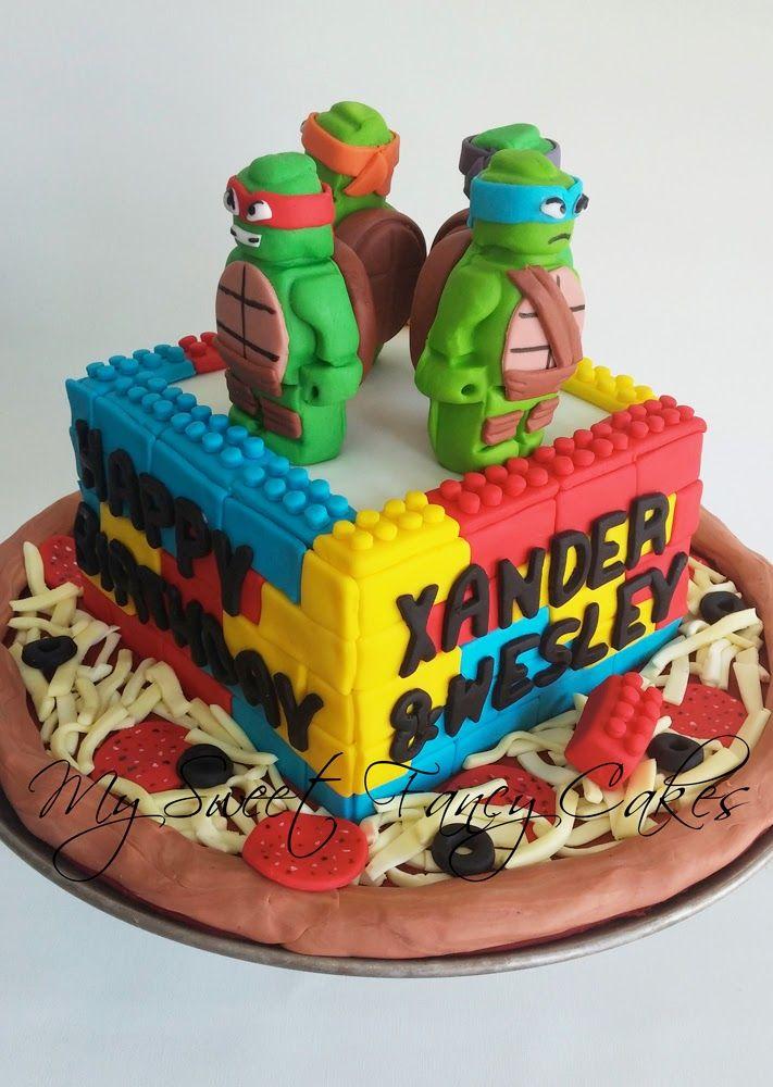Teenage Mutant Ninja Turtle Lego Cake