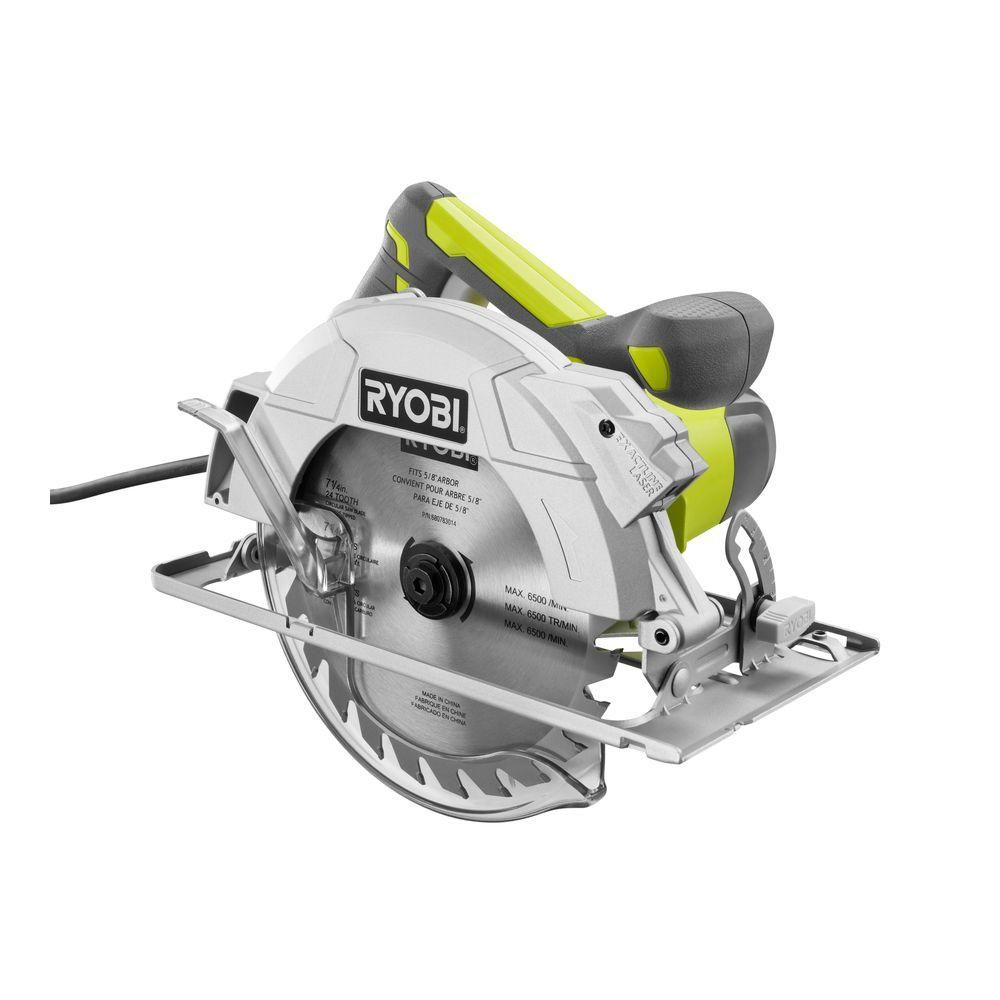 RYOBI 15 Amp Corded 71/4 in. Circular Saw with EXACTLINE