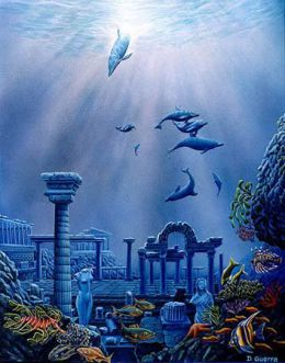 The Lost City Of Atlantis From Top To Bottom Seascape Artists Lost City Of Atlantis Beautiful Fantasy Art