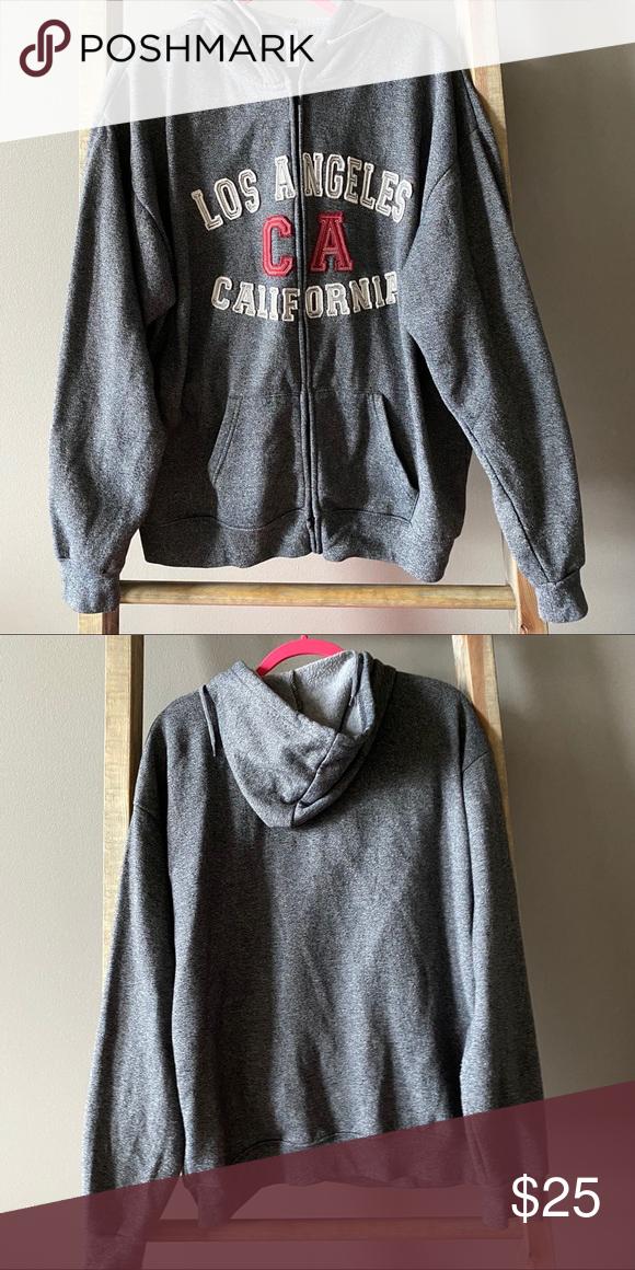 Los Angeles Zip Up Hoodie In 2020 Clothes Design Sweatshirt Shirt Zip Ups