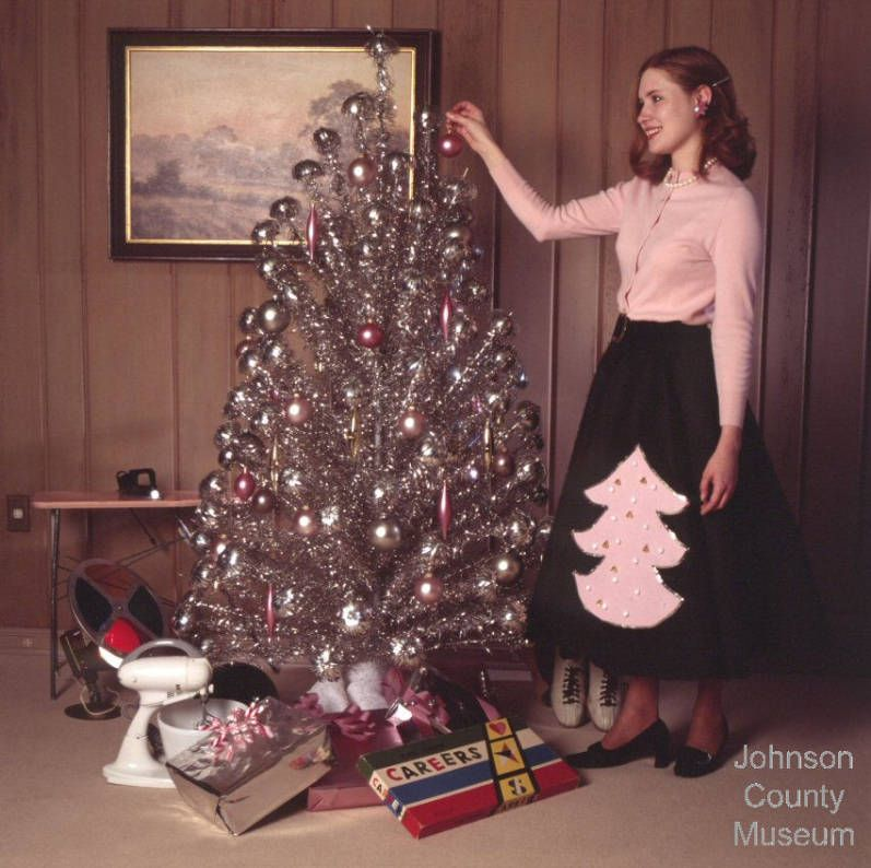 Aluminum Christmas Trees Had A Color Wheel That Sat On The Floor To