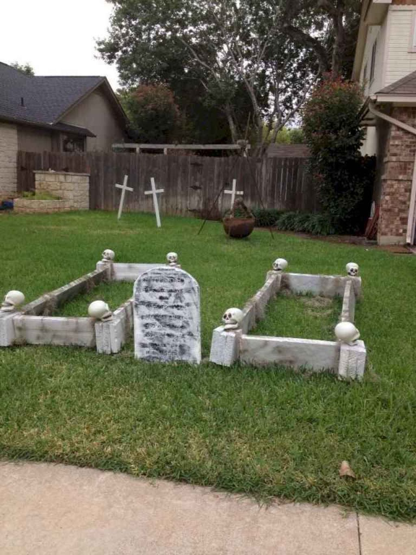 35 The Best Halloween Garden Decor Ideas Halloween Diy Outdoor Outdoor Halloween Halloween Garden Diy backyard haunted house