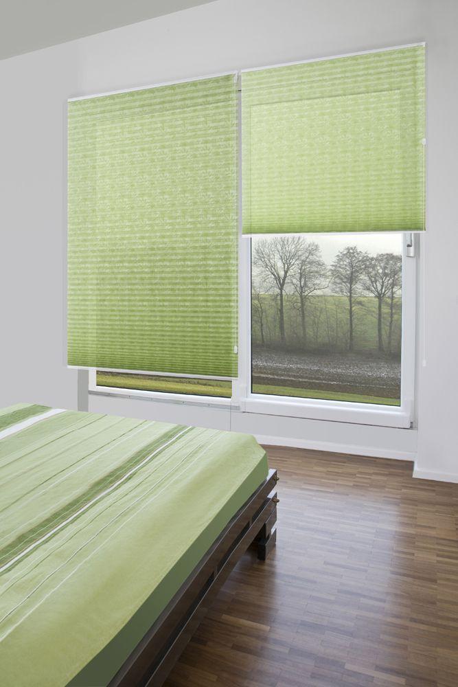 schlafzimmer plissees von sensuna pleated blinds from sensuna in a bed room plissees. Black Bedroom Furniture Sets. Home Design Ideas