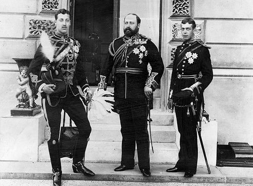 Albert Edward, Prince of Wales with his sons (c 1890)