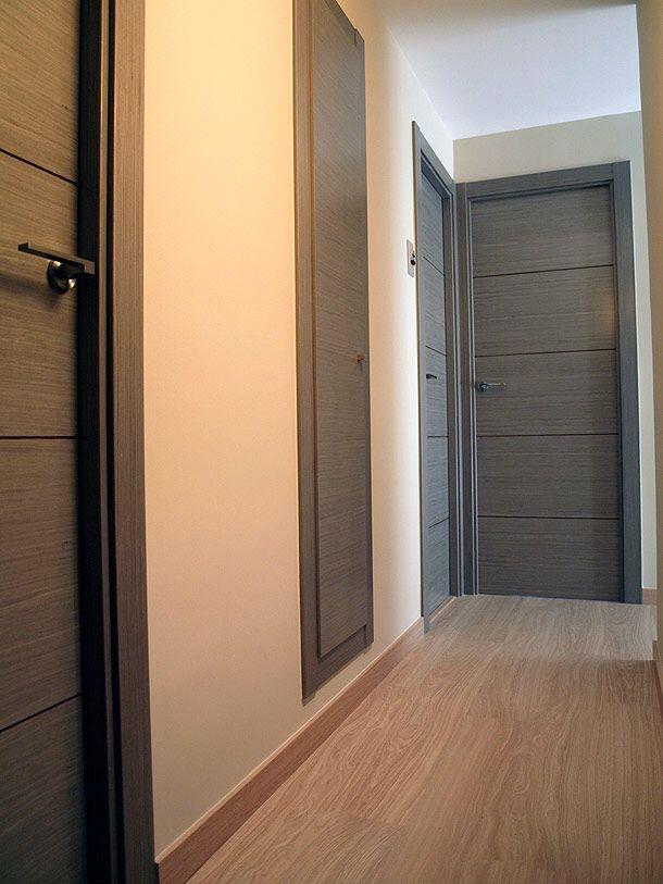 Paredes blancas y grises doors puertas interiores - Pintar puertas blancas ...