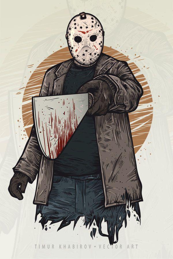 Jason Friday The 13th Drawing : jason, friday, drawing, Friday,, TimurKhabirov.deviantart.com, @DeviantArt, Horror, Artwork,, Movie, Jason, Voorhees