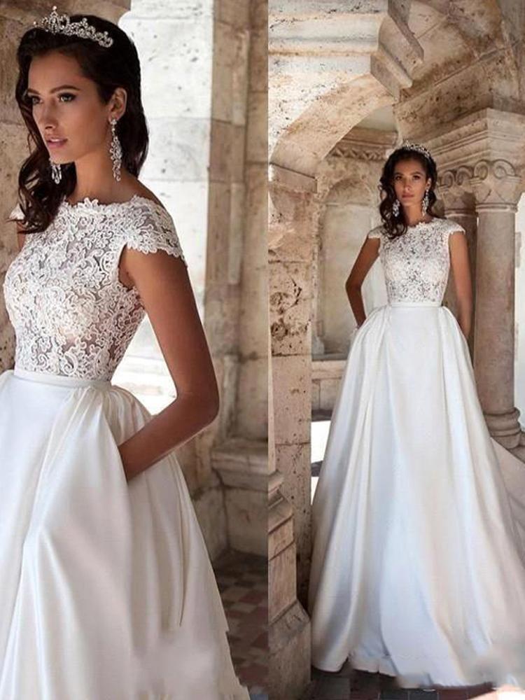 2020 的 onlybridals Princess Wedding Dress Sleeves Elegant