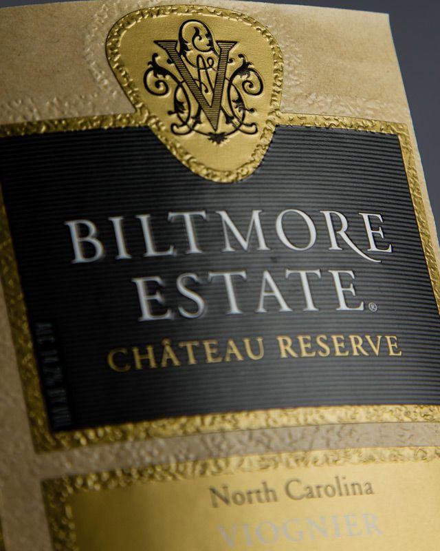 Pattern Embossed Wine Label  Metallic Hot Foil Stamping