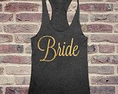 The Bride Tank in Gold Foil by GloriaClothingCo on Etsy