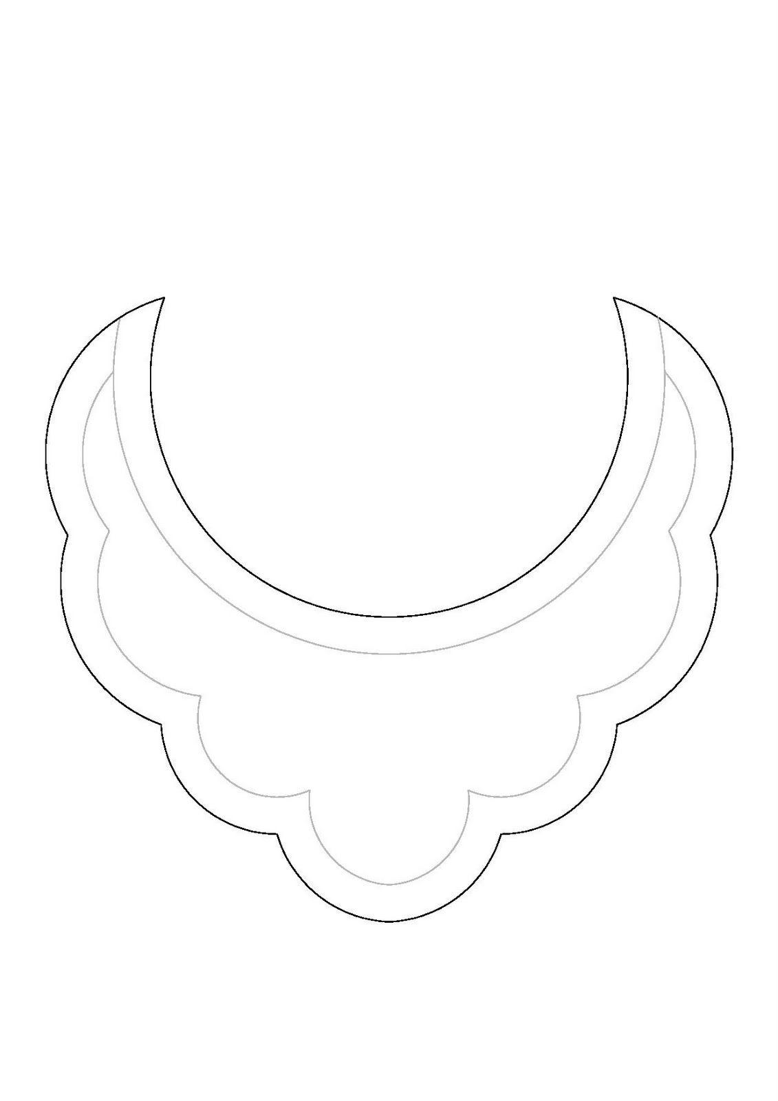 DIY Patrón collar babero / Bib necklace pattern | TAKI KALIPLARI ...