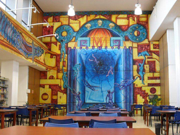 este es un mural que se encuentra en el interior de la biblioteca de la universidad!!! ^-^