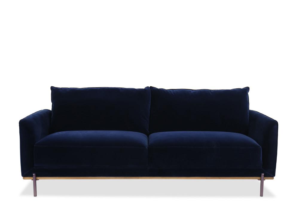 Casual Velvet Sofa In Blue Mathis Brothers Furniture Sofa Velvet Sofa Sofa Offers