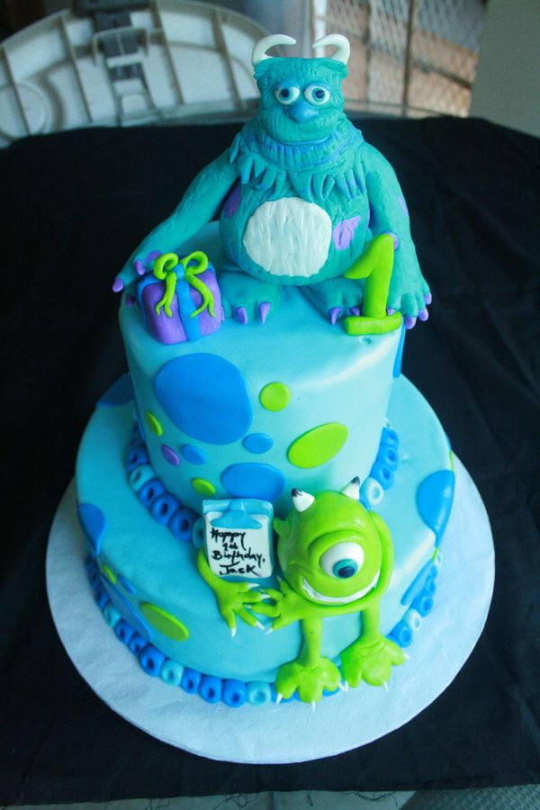 Monsters Inc Birthday Cakes Cakepins Cody 5th Birthday