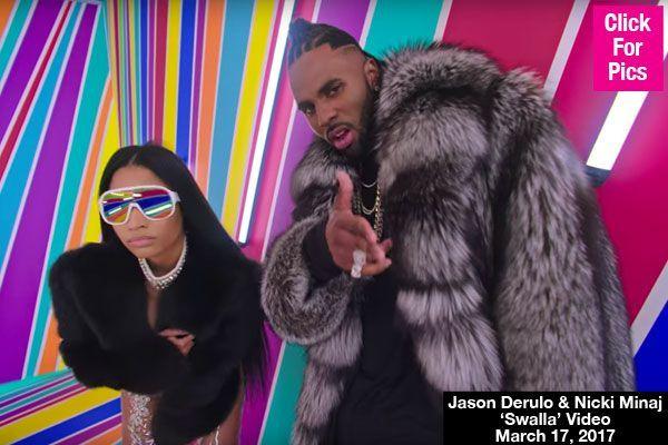 Jason Derulo Nicki Minaj Get Wild Freaky In Sexy New Video For Swalla Watch Celebrities Jason Derulo Nicki Minaj Nicki Minaj Videos