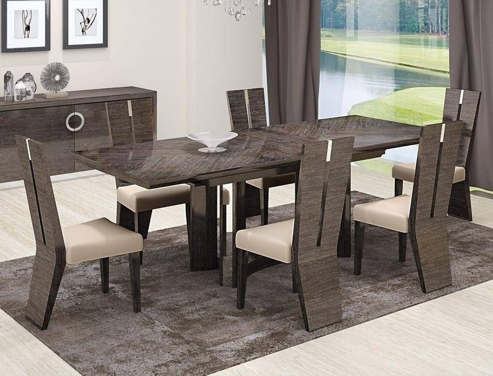 Elegant Small Dining Tables Sets With Black Leather Chair And Wooden Table Finished In Traditi Small Dining Room Table Black Dining Room Sets Dining Room Small