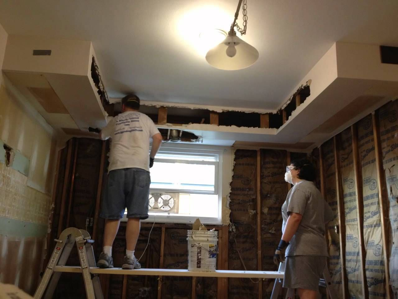 Kitchen Soffit Removal Drywall Inside Custom Cabinets In Sheetrock 5 Ways To Save Space In Your Home With Dryw Kitchen Soffit Kitchen Remodel Plasterboard Wall