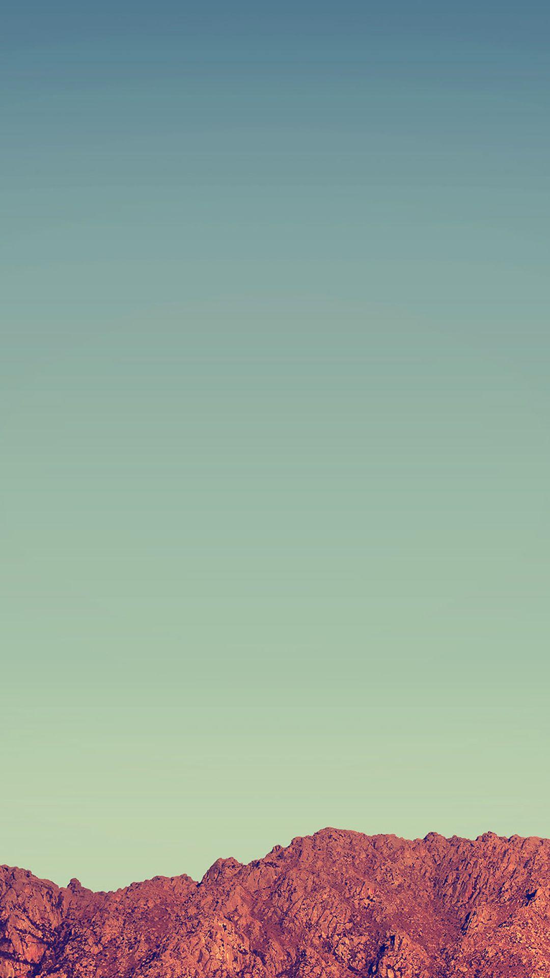 Pure Minimal Rock Mountain Blue Sky Iphone 7 Wallpaper