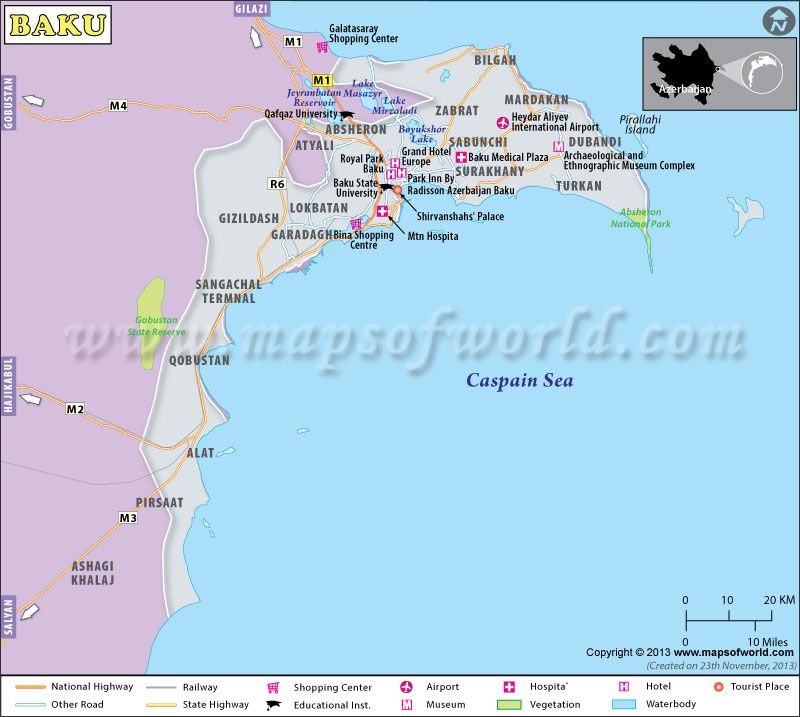 Baku Map Map Of Baku City Azerbaijan Baku Map Baku City Azerbaijan