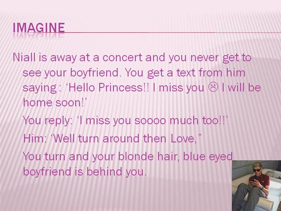 Imagine Niall!!