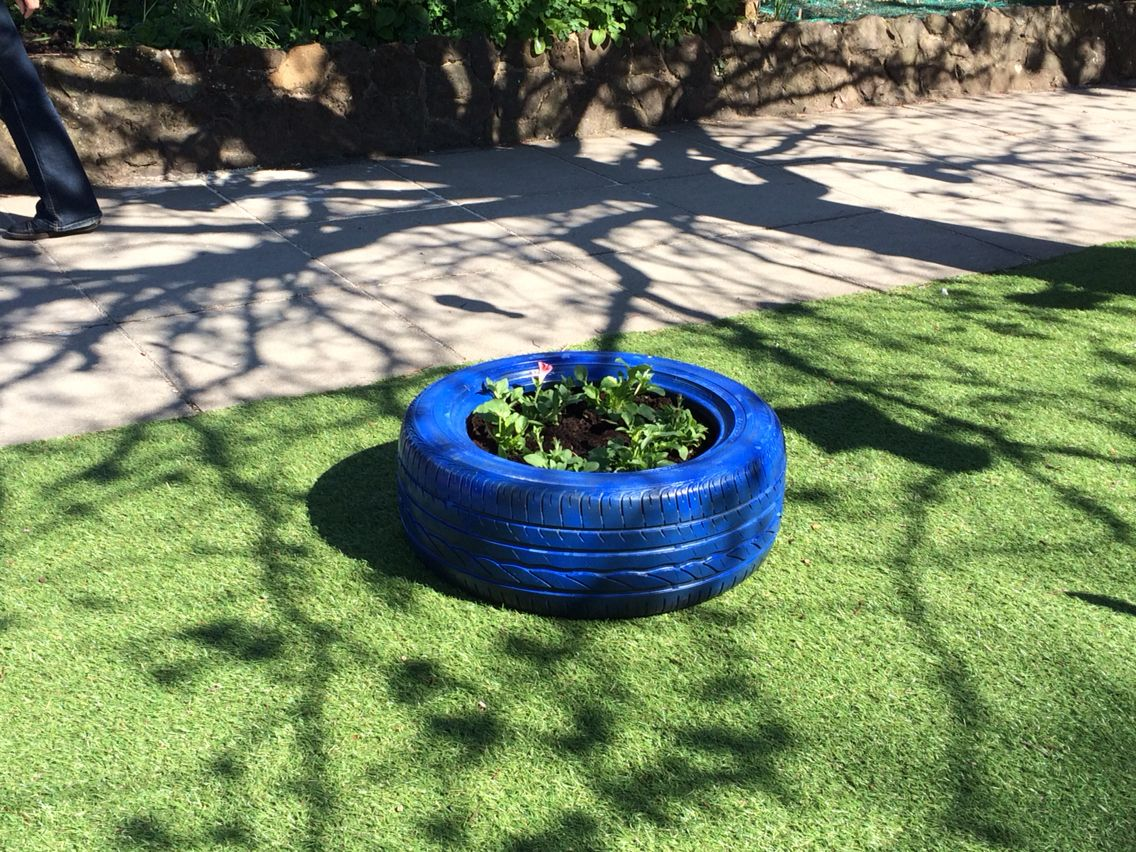 Planted tyres