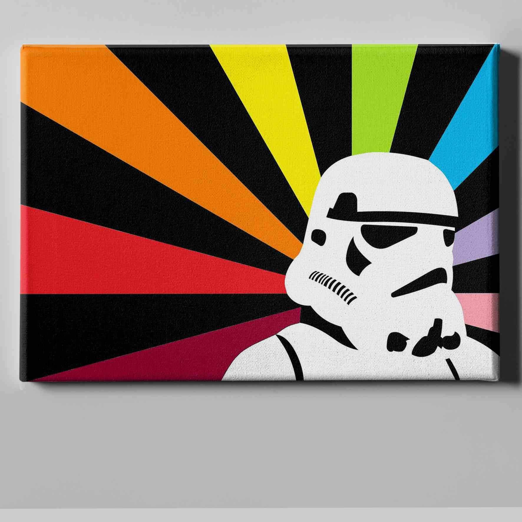 Star Wars Storm Trooper 5 Star wars painting, Star