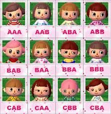 Animal Crossing New Leaf Face Guide Animal Crossing Animals