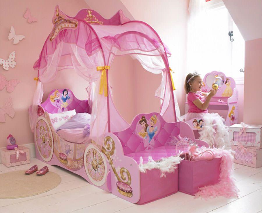 Tenda Letto Carrozza Principesse Disney : Meravigliose camerette da principessa disney per bambine idee