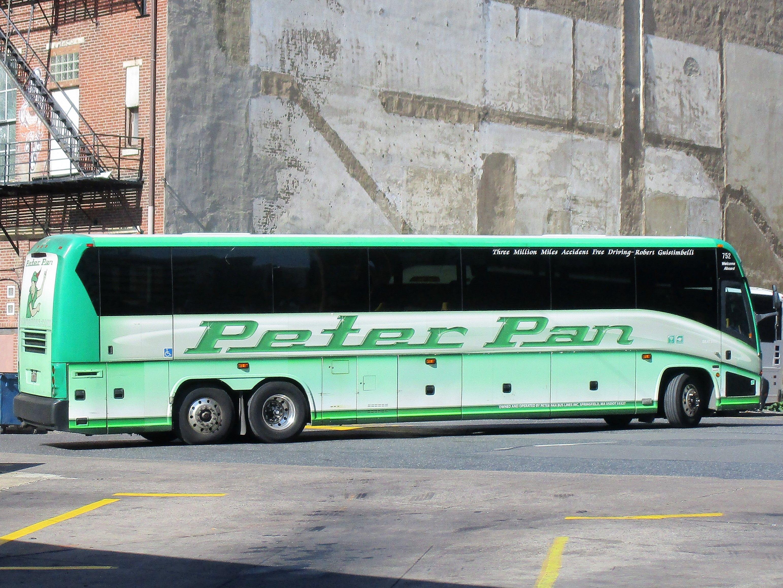 Peter Pan MCI J4500 at Phila  Greyhound Terminal  | trolleys