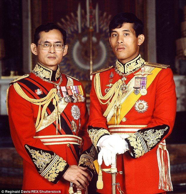 King Bhumibol with his son Crown Prince Maha Vajiralongkorn. It is expected that he will become the new king