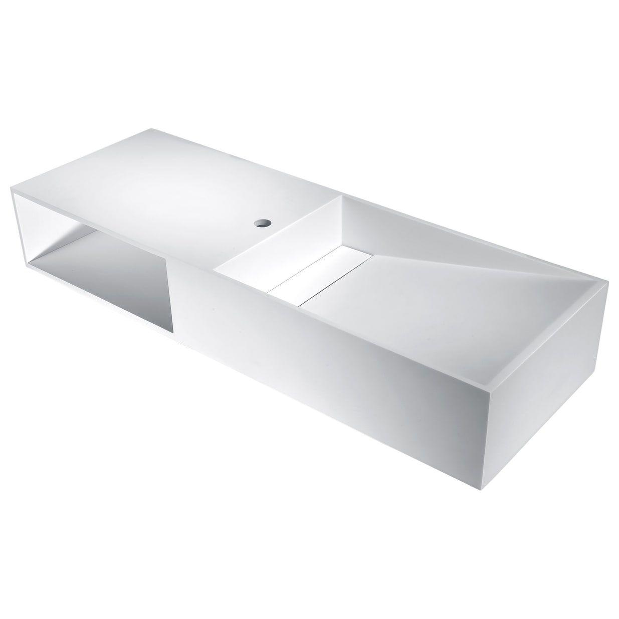 Anzzi Harmsia Vessel Sink in Matte White | Vessel sink, Sinks and ...
