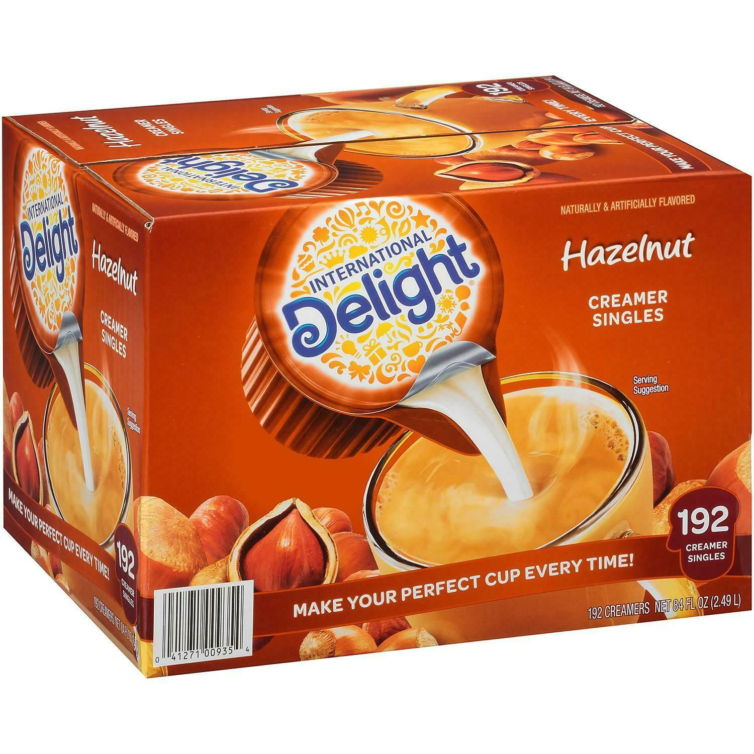International Delight Hazelnut Coffee Creamer Singles (192