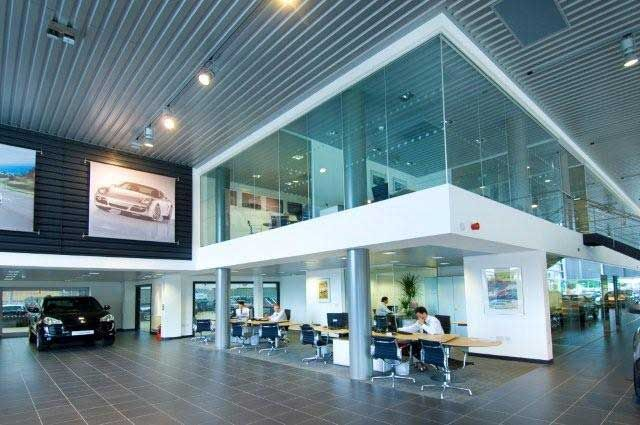 Glass Mezzanine Em Motorcars Pinterest Showroom Showroom