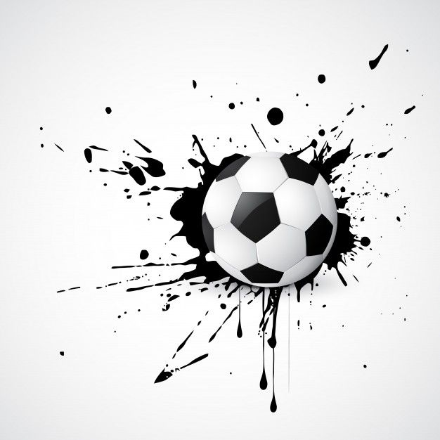Download Football Placed On Grunge Design For Free Clipart Preto E Branco Tatuagem De Futebol Vetores